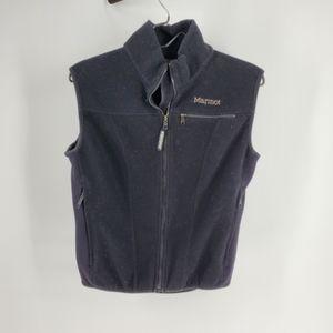 Marmot Windstopper Black Fleece Vest Small